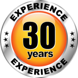 30 years of experience badge